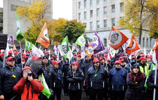Manifestation nationale à Québec